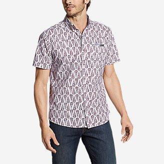 Men's Bainbridge Short-Sleeve Seersucker Shirt in White