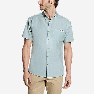 Men's Bainbridge Short-Sleeve Seersucker Shirt in Green