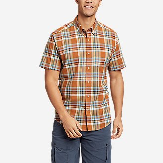 Men's Baja Short-Sleeve Shirt - Print in Orange