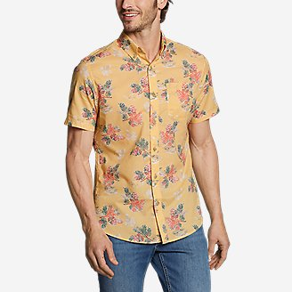 Men's Baja Short-Sleeve Shirt - Print in Yellow