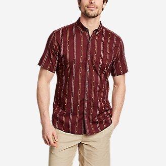 Men's Baja Short-Sleeve Shirt - Print in Brown