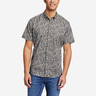 Men's Baja Short-Sleeve Shirt - Print in Beige