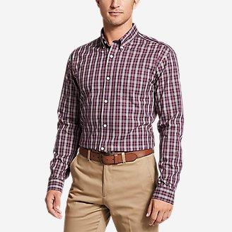 Men's Wrinkle-Free Pinpoint Oxford Classic Fit Long-Sleeve Shirt - Seasonal Pattern in Purple