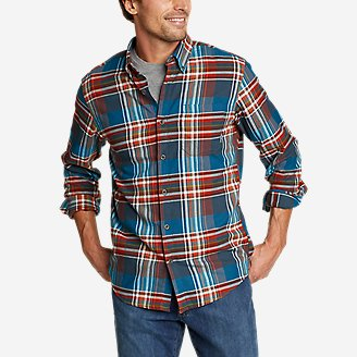 Men's Wild River Lightweight Flannel Shirt in Green