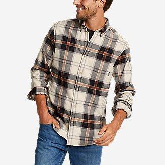 Men's Eddie's Favorite Flannel Classic Fit Shirt - Plaid in Beige