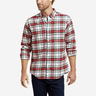 Men's Eddie's Favorite Flannel Classic Fit Shirt - Plaid in White