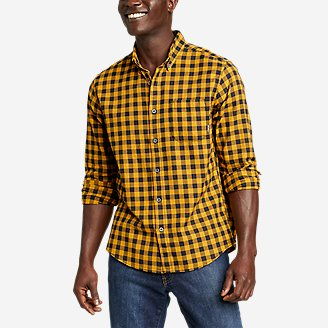 Men's Eddie's Favorite Flannel Classic Fit Shirt - Plaid in Yellow