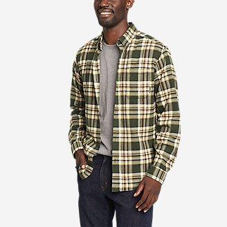 Men's Eddie's Favorite Flannel Classic Fit Shirt - Plaid in Green
