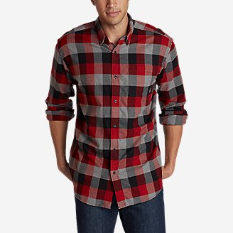 Men's Eddie's Favorite Flannel Classic Fit Shirt - Plaid in Red