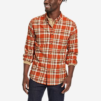 Men's Eddie's Favorite Flannel Classic Fit Shirt - Plaid in Orange