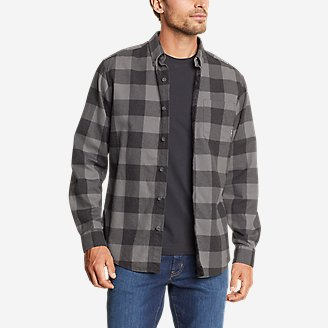 Men's Eddie's Favorite Flannel Classic Fit Shirt - Plaid in Gray
