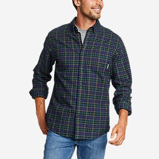 Men's Eddie's Favorite Flannel Classic Fit Shirt - Plaid in Blue