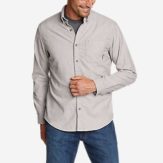 Men's Eddie's Favorite Flannel Classic Fit Shirt - Solid in Gray