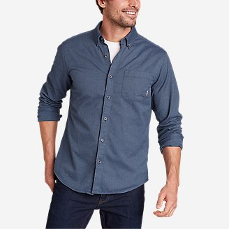 Men's Eddie's Favorite Flannel Classic Fit Shirt - Solid in Blue