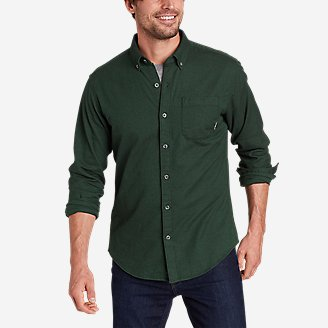 Men's Eddie's Favorite Flannel Classic Fit Shirt - Solid in Green