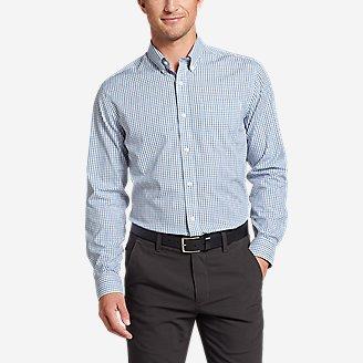 Men's Flex Wrinkle-Free Classic-Fit Shirt - Blues in Blue