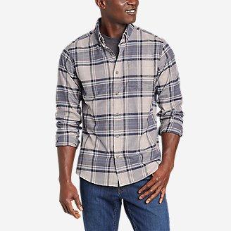 Men's On The Go Flex Twill Long-Sleeve Shirt in Beige