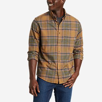 Men's On The Go Flex Twill Long-Sleeve Shirt in Yellow