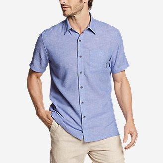 Men's Larrabee 2.0 Linen-Blend Shirt in Blue