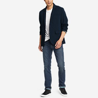 Men's Ultimate Voyager Travel Blazer in Blue