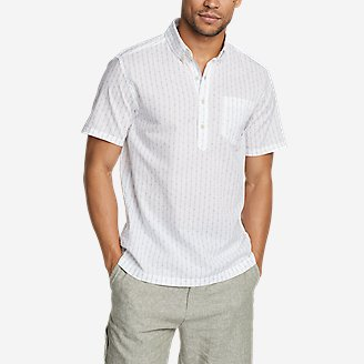 Men's Baja Short-Sleeve Popover Shirt in White
