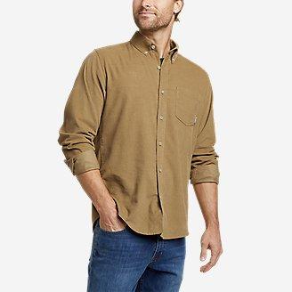 Men's Long-Sleeve Corduroy Shirt in Brown