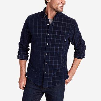 Men's Long-Sleeve Corduroy Shirt in Blue