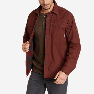 Men's Voyager Fleece-Lined Shirt Jacket in Brown