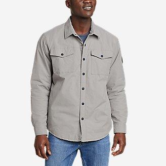 Men's Voyager Fleece-Lined Shirt Jacket in Gray