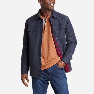 Men's Voyager Fleece-Lined Shirt Jacket in Blue