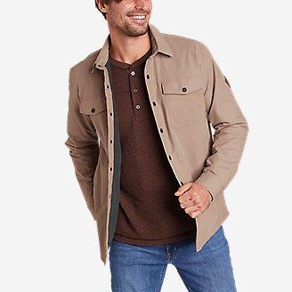 Men's Voyager Fleece-Lined Shirt Jacket in Beige