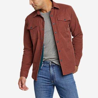 Men's Voyager Fleece-Lined Shirt Jacket in Brown