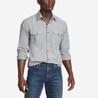 Men's Eddie's Flex Oxford Shirt in Gray
