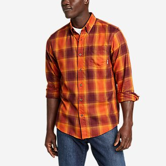 Men's Alight Flannel Shirt in Orange