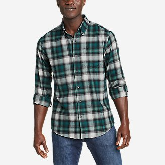 Men's Alight Flannel Shirt in Green