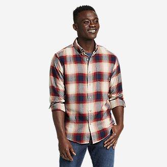 Men's Alight Flannel Shirt in Beige