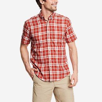 Men's Tidelands Short-Sleeve Yarn-Dyed Textured Shirt in Orange