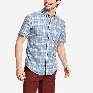 Men's Tidelands Short-Sleeve Yarn-Dyed Textured Shirt in Blue