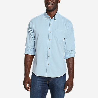 Men's Earth Wash Cord Shirt in Blue