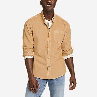 Men's Earth Wash Cord Shirt in Beige