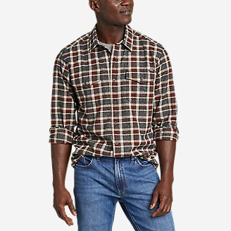 Men's Eddie's Favorite Cabin Flannel Shirt in Gray