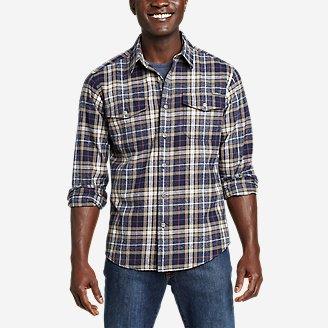 Men's Eddie's Favorite Cabin Flannel Shirt in Blue