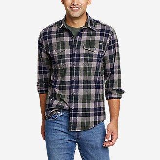 Men's Eddie's Favorite Cabin Flannel Shirt in Green