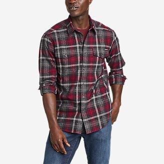 Men's Eddie's Favorite Cabin Flannel Shirt in Red