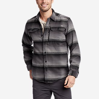 Men's Chopper Heavyweight Flannel Shirt in Gray
