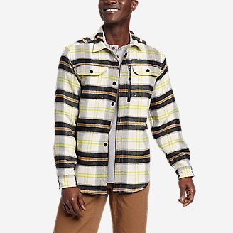 Men's Chopper Heavyweight Flannel Shirt in White