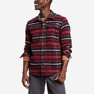 Men's Chopper Heavyweight Flannel Shirt in Red
