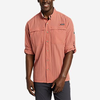 Men's Guide Long-Sleeve Shirt in Red