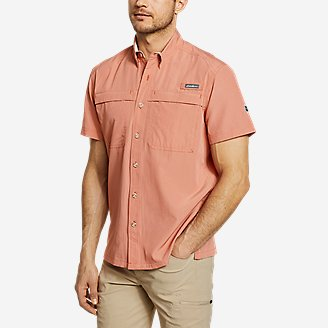 Men's Guide Short-Sleeve Shirt in Red