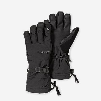 Men's Powder Search Touch-Screen Gloves in Black